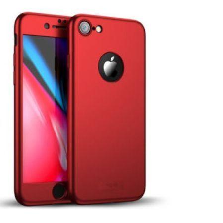 Capac de protectie Full cover 360° pentru Apple Iphone 8, rosu