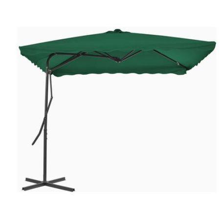 Umbrela de soare pentru exterior, VERDE stalp din otel