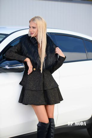 Dressed Passion италианска вълна и косъм. Луксозно палто. -40%