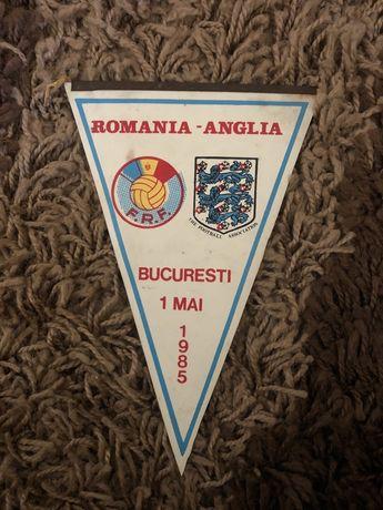 Vand fanion Romania Anglia 1985 original