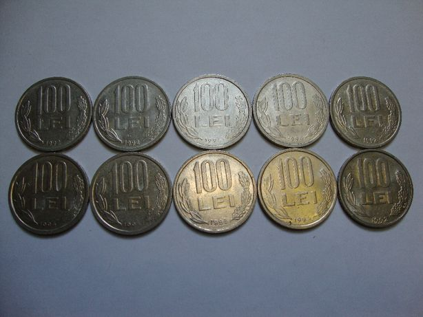 Monede romanesti (lei) dupa 1990 la oferta 10 buc - 10 lei