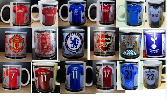 Уникални Фтболни Чаши с Ваше име и номер!Фен чаши на футболни отбори!