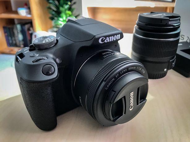 Canon EOS 2000D, 2 obiective, Garantie 15 luni