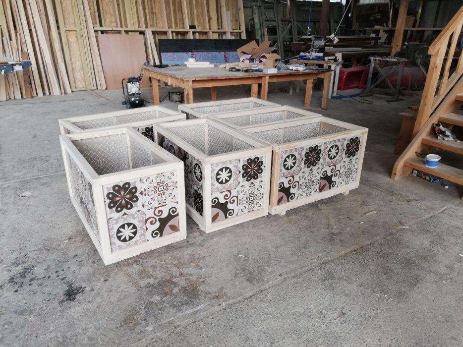 Jardiniera placi ceramice 1000x550x550mm