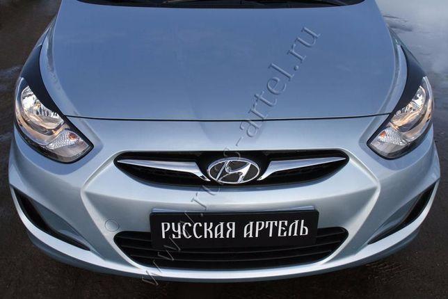 Запчасти (реснички) Hyundai Solaris седан 2010 до 2014