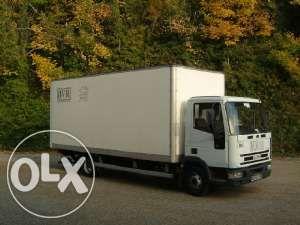 Transport Marfa camion 7.5 tone Mobila utilaje duba lift 3.5 transpale