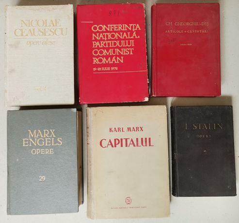 Lot 6 volume propagandă comunista Marx Engels Stalin Ceaușescu