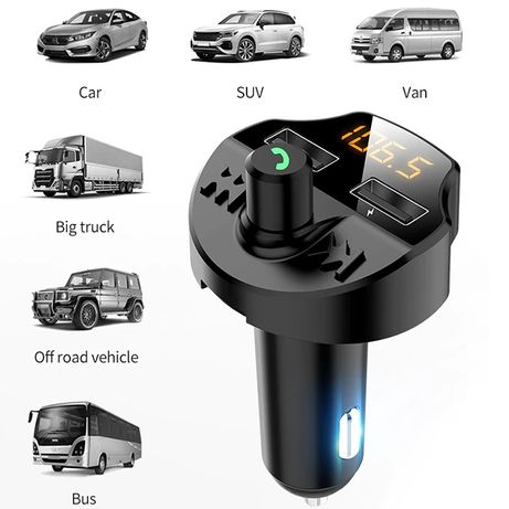 Блутут Трансмитер T66/FM Bluetooth Handsfree/Хендсфри с флашка за кола