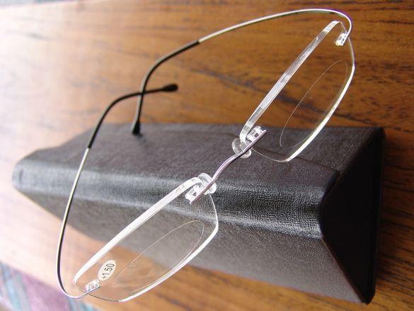 Диоптрични очила за четене стил Silhouette ТИТАНИЕВИ луксозни с кут