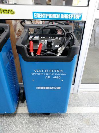 Стартерна количка 680 ам с зарядно устройство до 60 ам