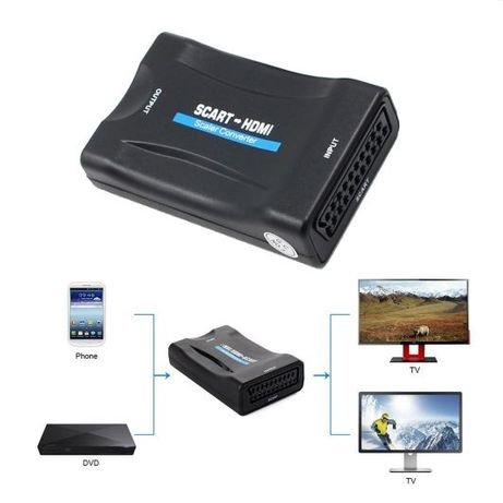 Конвертор SCART към HDMI 1080P Видео аудио сигнал адаптер