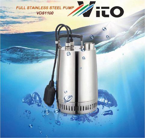 1100W Потопяема Дренажна помпа - Изцяло от Неръждаема стомана AISI 304