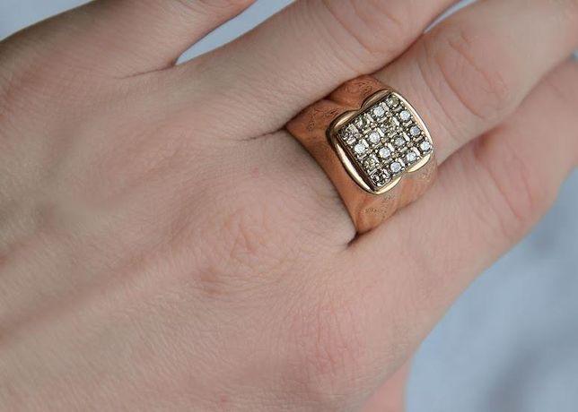 Печатка с бриллиантами, золото 585 Россия, вес 12.20 г. №16325