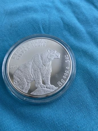 Монета серебряная Серебряный Барс 5 Oz