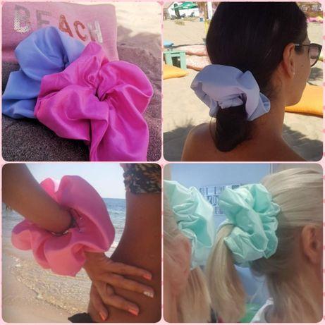Ластик за коса - Скрънчи от сатен цвят по избор #Скрънчи