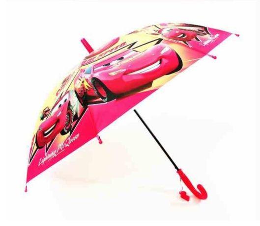 Детски чадър за дъжд за момче колите Дисни McQueen, Макуин със свирка