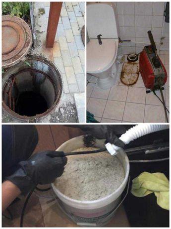Прочистка канализации, прочистка трубопровода, устранение засоров