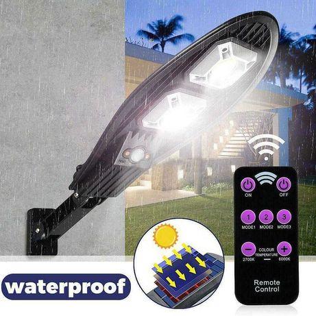 Соларна лампа Cobra 60LED, с дистанционно и стойка за монтаж
