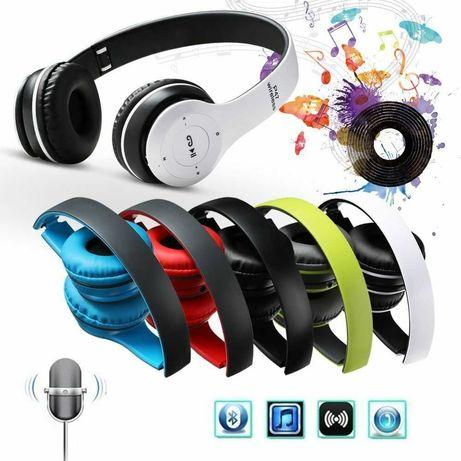 Безжични Bluetooth слушалки P47, FM радио, MP3 player