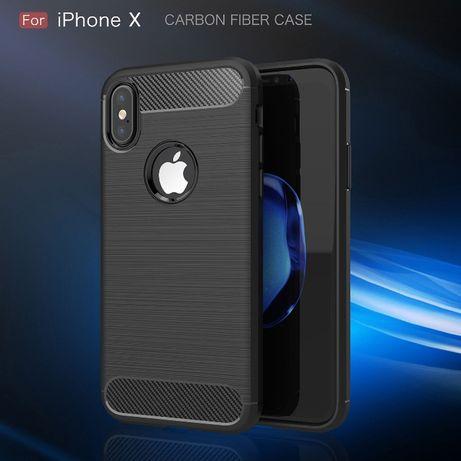 Силиконов Кейс с карбон за Iphone Xs max, X 7/8PLUS 7/8 6/6S PLUS