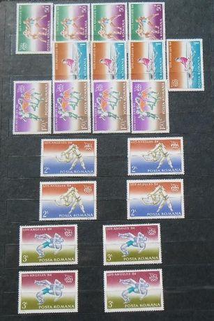 """Vând 4 serii timbre """"Jocurile Olimpice Los Angeles"""" - 1984"""