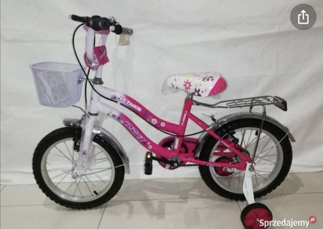 Bicicleta fetite 5-9 ani cu roti ajutatoare