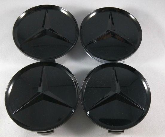 Set 4 Capace mercedes negru complet pentru jante originale MERCEDES