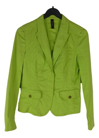 Sacou Casual Dama Marccain Marimea S Verde-Neon din Bumbac A58
