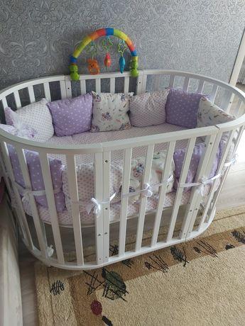 Продам детскую кроватку трансфермер Северянка 8в1