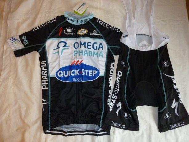 Echipament ciclism S etixx quick step pantaloni tricou