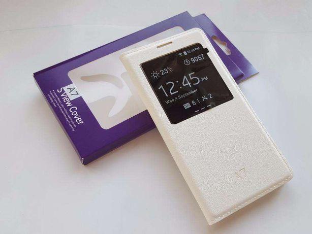 Husa ALBA Flip Cover Samsung Galaxy A7 / A700F + Folie