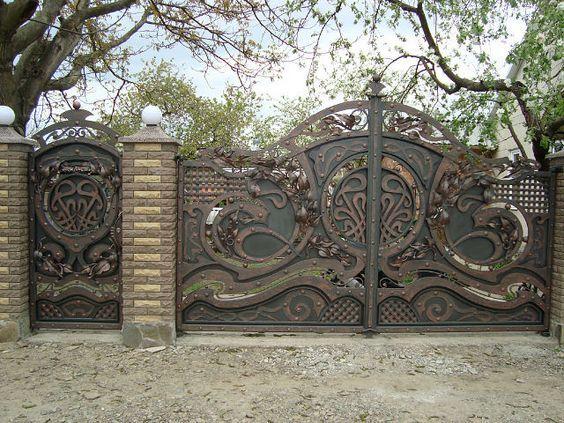 Кованые ворота, калитки, столбы откатные, распашные, консольные