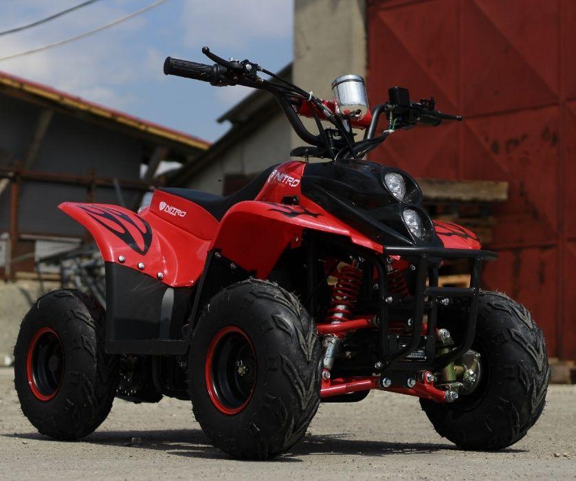 ATV electric ECO Bigfoot 800W 36V cu Baterie Detasabila #Rosu