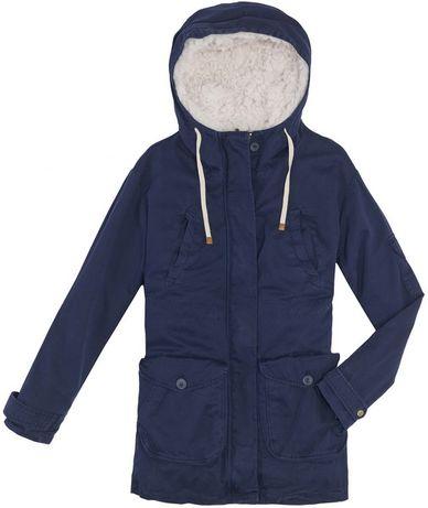 Zara TRF - Geaca iarna XS 100% bumbac cotton dublură detașabilă blană