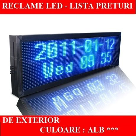 Reclame LED programabile EXTERIOR ALB luminoasa