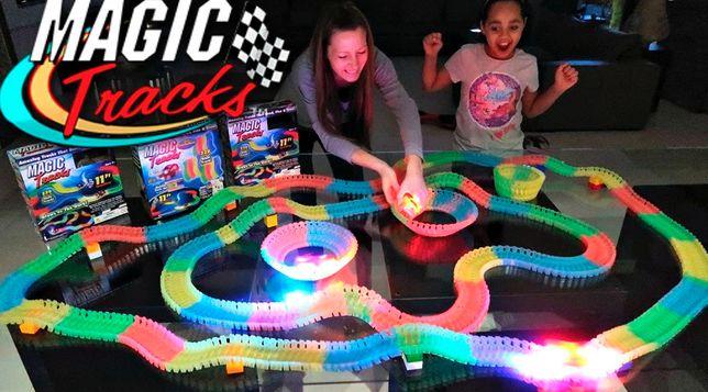 Оригинальный детский конструктор Magic Tracks длина трека 2 метра