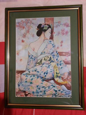 Geisha (arta japoneza,litografie)