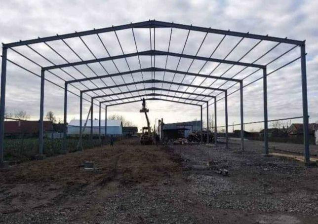 Vand hale metalice si ferme metalice 12x10 m. Pentru mai multe informa