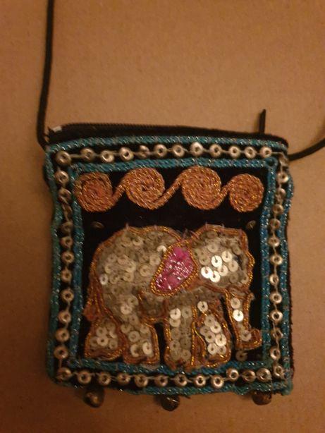 Portofel cu snur paiete - Tailanda - elefant - exotic