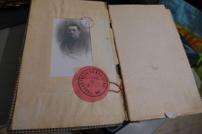 Caet de Cursuri si Examene Facultatea de Medicina Iasi 1918-1919