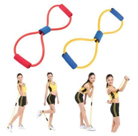 Эспандер восьмерка для фитнеса и йоги