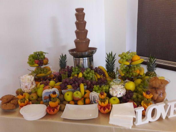 Fântâna de ciocolata cu/fara bar de fructe