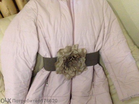 Дамско зимно яке, с яка от мекичък косъм