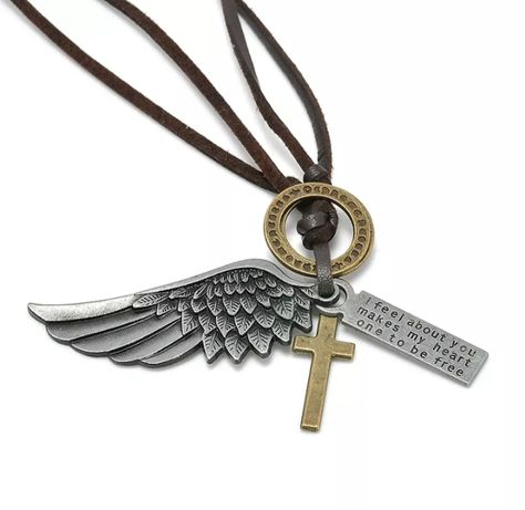 Унисекс Гердани с кръст, перо, крила, патрон и други висулки