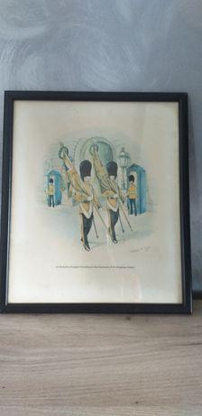 Tablou cu primul batalion  de la palatul Buckingham