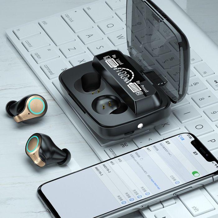 2021! ПРОМО! Безжични Слушалки М18 9D HiFi EarBuds Wireless EarBuds