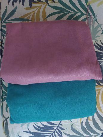 Materiale huse banchete/pernuțe turcoaz si mov