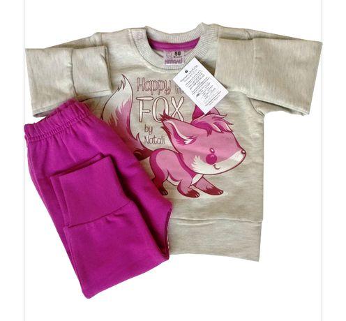 Нов детски комплект долнище и блузка за момиче
