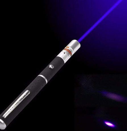 Laser Pointer violet (albastru) nou 500 metri 500m 2 x baterii aaa