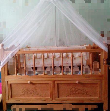 Детская кровать-манеж с люлькой